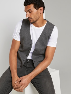 Suit vest with a houndstooth pattern - 5 - TOM TAILOR