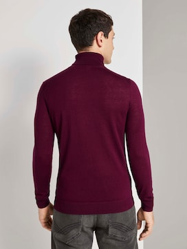 Merino wool turtleneck pullover - 2 - TOM TAILOR