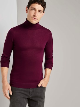 Merino wool turtleneck pullover - 5 - TOM TAILOR
