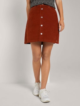 Buttoned corduroy mini skirt - 1 - TOM TAILOR Denim