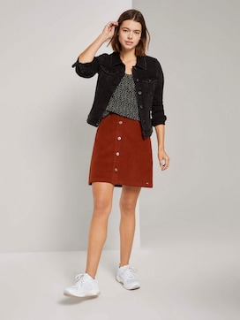 Buttoned corduroy mini skirt - 3 - TOM TAILOR Denim