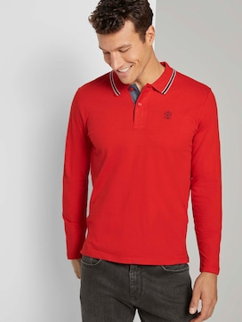 Weiches Langarm Poloshirt - 5 - TOM TAILOR