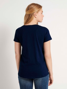 T-shirt with small embroidery - 2 - TOM TAILOR Denim
