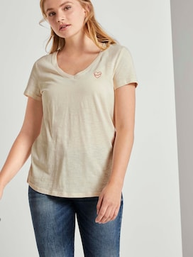 T-Shirt mit kleiner Stickerei - 5 - TOM TAILOR Denim