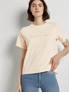 Jersey T-Shirt mit Stickerei - 5 - TOM TAILOR Denim