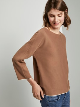 Basic Pullover mit Fledermausärmeln - 5 - TOM TAILOR