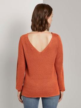 Strukturierter Pullover mit V-Ausschnitt - 2 - TOM TAILOR Denim