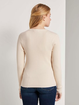 Ribbed pullover with a Henley neckline - 2 - TOM TAILOR Denim