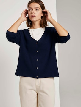 Melierter Cardigan mit Knopfleiste - 5 - TOM TAILOR Denim