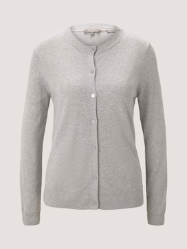 Cardigan met Rib Detail - 7 - Tom Tailor E-Shop Kollektion
