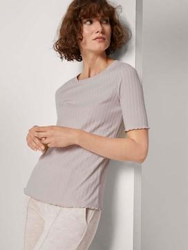 Geribbeld T-shirt - 5 - TOM TAILOR