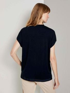 Basic T-Shirt mit Seitenschlitzen - 2 - TOM TAILOR