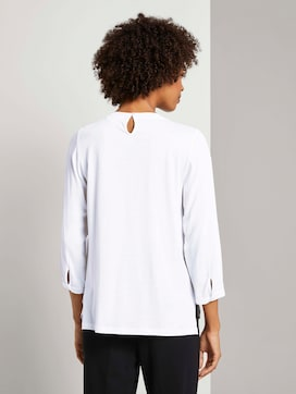 3/4-Arm Shirt im Materialmix - 2 - Mine to five