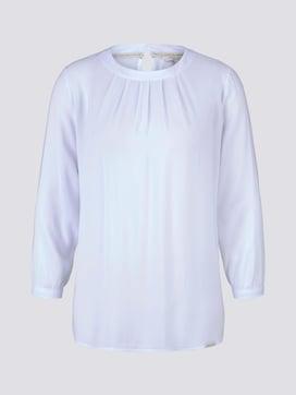 3/4-Arm Shirt im Materialmix - 7 - Tom Tailor E-Shop Kollektion