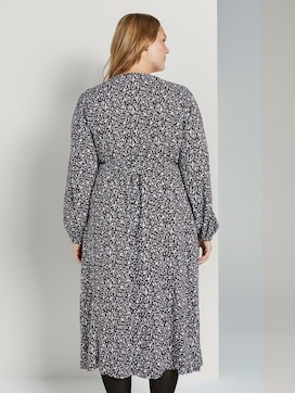 Patterned midi wrap dress  - 2 - My True Me
