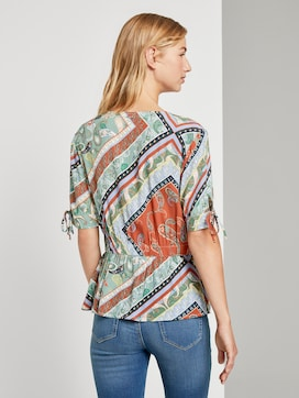 Blouse met print en V-hals - 2 - TOM TAILOR Denim