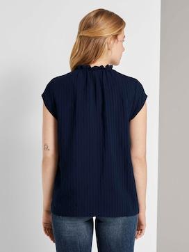 Speelse blouse met korte mouwen en ruches - 2 - TOM TAILOR Denim