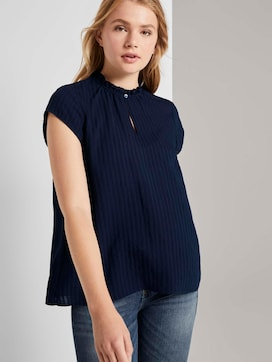 Speelse blouse met korte mouwen en ruches - 5 - TOM TAILOR Denim