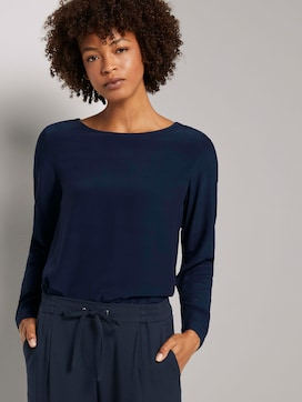 Basic blouse met ronde hals - 5 - Mine to five
