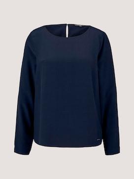 Basic Bluse mit Rundhalsausschnitt - 7 - Tom Tailor E-Shop Kollektion