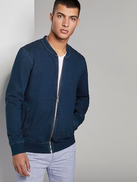 Indigo Bomber-Sweatjacke - 5 - TOM TAILOR Denim