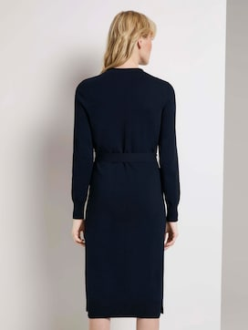 Midi Knit Jurk met Tie Ceintuur - 2 - Mine to five