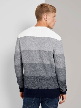 Knitted sweater in a gradient colour - 2 - TOM TAILOR Denim