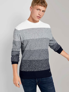 Knitted sweater in a gradient colour - 5 - TOM TAILOR Denim