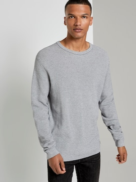 Melierter Pullover - 5 - TOM TAILOR Denim