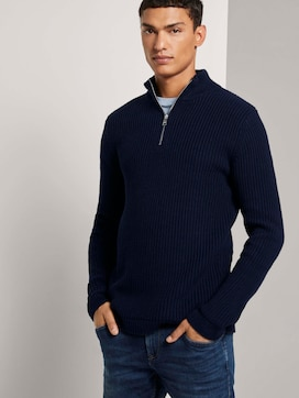 Pullover mit Troyer-Kragen - 5 - TOM TAILOR Denim