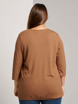 3/4-sleeved shirt with an elastic waistband - 2 - Tom Tailor E-Shop Kollektion