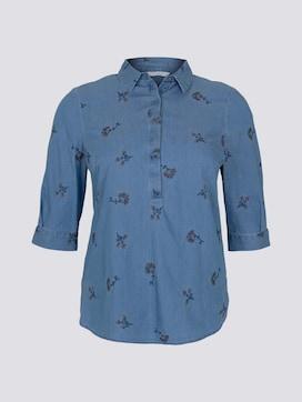 Denim blouse with embroidery - 7 - Tom Tailor E-Shop Kollektion
