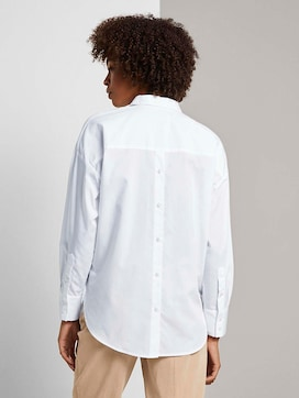shirt blouse made of cotton - 2 - Mine to five
