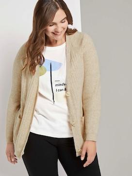 Lockere Strickjacke mit Taschen - 5 - Tom Tailor E-Shop Kollektion