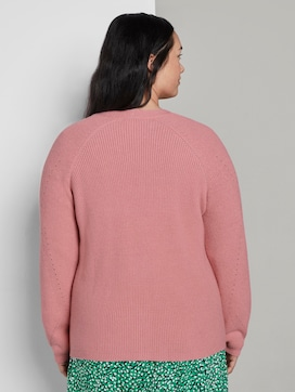 Short cardigan with a knitted pattern - 2 - My True Me