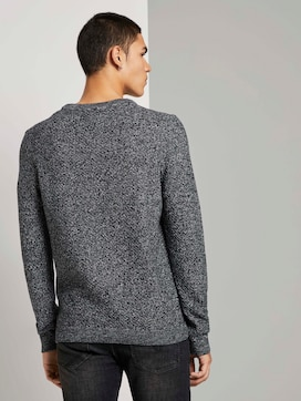 Pullover with a textured pattern - 2 - TOM TAILOR Denim