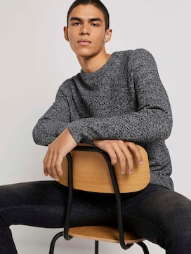 Pullover with a textured pattern - 5 - TOM TAILOR Denim