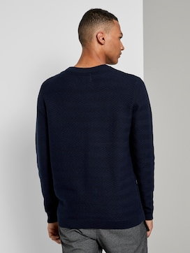Sweater with a zigzag structure - 2 - TOM TAILOR Denim