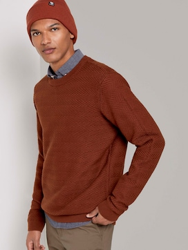 Sweater with a zigzag structure - 5 - TOM TAILOR Denim