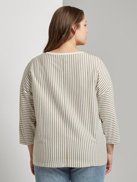 Striped shirt with 3/4 sleeves - 2 - My True Me