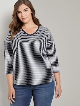 Striped shirt with 3/4 sleeves - 5 - My True Me