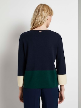 Short sweater in colour blocking - 2 - Mine to five