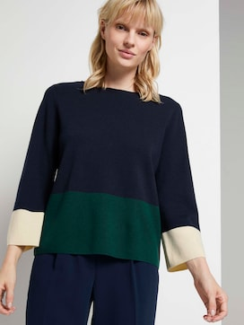 Short sweater in colour blocking - 5 - Mine to five