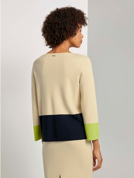 Kurzer Pullover mit Colorblocking - 2 - Mine to five