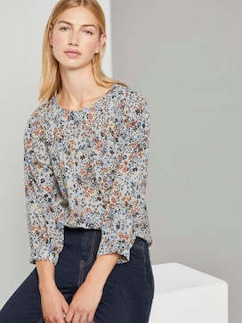 Verspielte Bluse mit Blumenprint - 5 - TOM TAILOR Denim