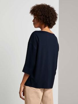 Shirt im Materialmix - 2 - Tom Tailor E-Shop Kollektion