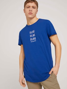T-shirt with a chest print made with organic cotton  - 5 - TOM TAILOR Denim