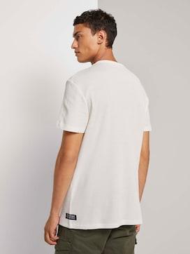 T-Shirt mit Rippeinsatz - 2 - TOM TAILOR Denim