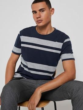 T-Shirt mit Streifenstruktur - 5 - TOM TAILOR Denim