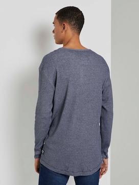 Strukturiertes Henley-Shirt - 2 - TOM TAILOR Denim